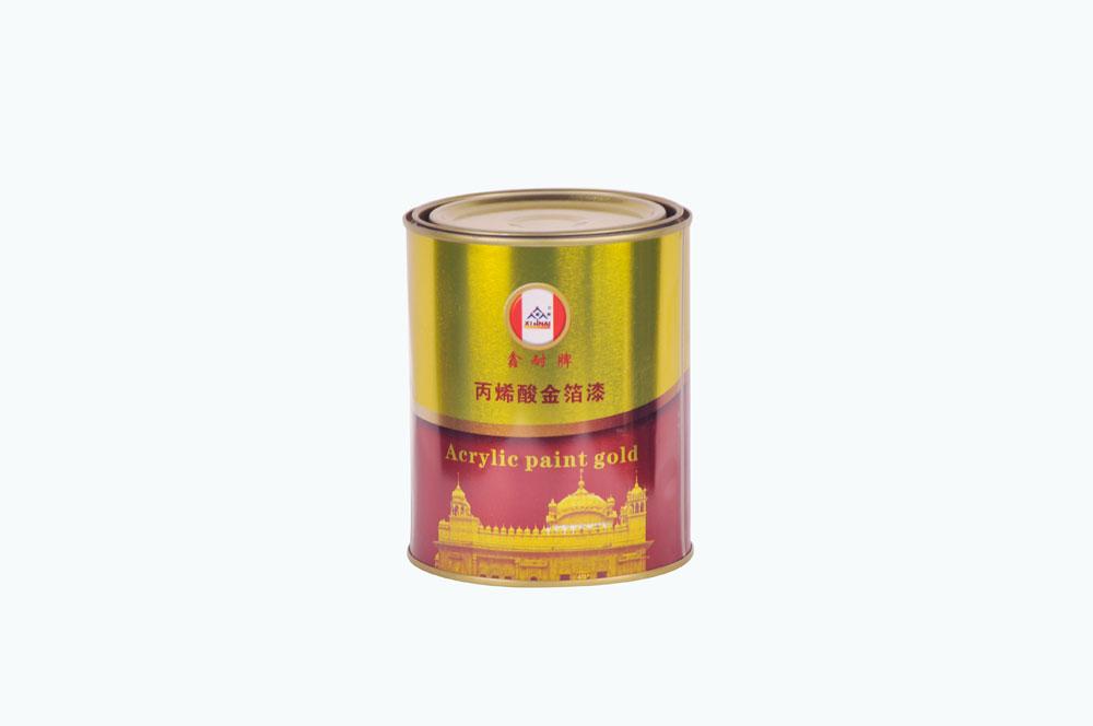 鑫耐 丙烯酸 金箔漆 0.8kg